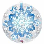 Doppio Palloncino piatto Fiocco di neve (60 cm)