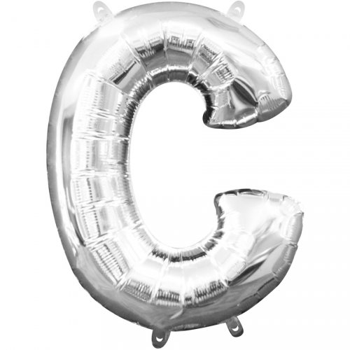 Palloncino Lettera C Argento (33 cm)