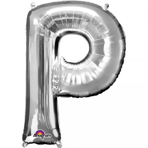 Palloncino Lettera P Argento (33 cm)