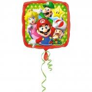 Palloncino piatto Mario e Luigi (43 cm)