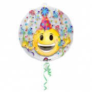 Doppio Palloncino Emoticon Party piatto (60 cm)