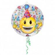 Doppio Palloncino Emoticon Party piatto (60 cm)
