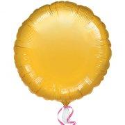 Palloncino Disco oro metallizzato (43 cm)