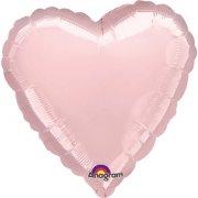 Palloncino Cuore rosa pastello metallizzato (43 cm)