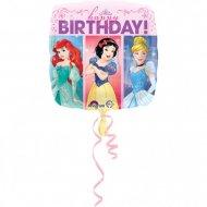 Palloncino piatto Happy Birthday Principesse Disney
