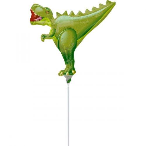 Palloncino con asta a forma di Dino T-Rex