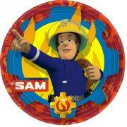 8 Piatti Sam il Pompiere Fireman