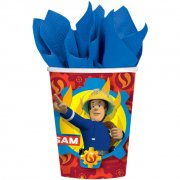 8 Bicchieri Sam il Pompiere Fireman