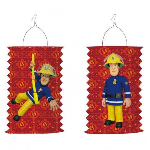 1 Lanterna a fisarmonica Sam il pompiere (28 cm)