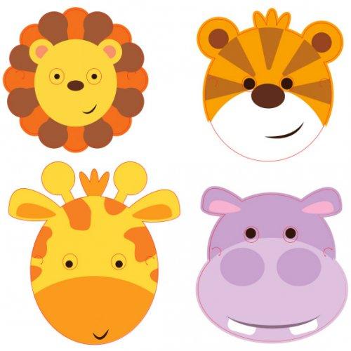 8 Maschere Amici della giungla