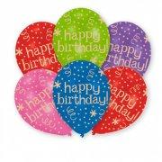 6 Palloncini Happy Birthday Fiesta