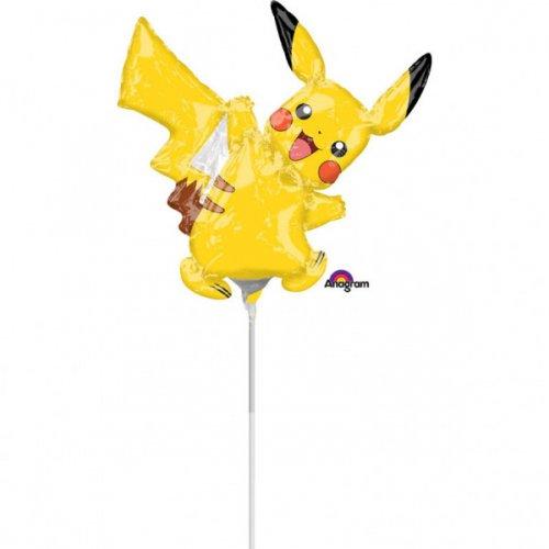 Palloncino con asta Pikachu Pokemon (29 cm)