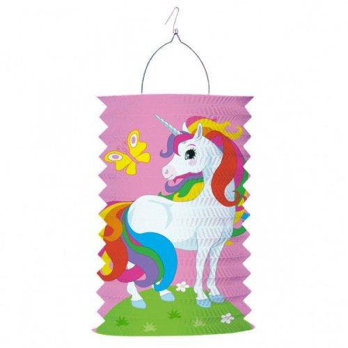 Lanterna unicorno arcobaleno - Carta a fisarmonica