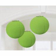 3 lanterne palline verdi giapponesi