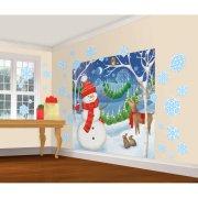 30 Decorazioni da parete + Poster Pupazzo di Neve