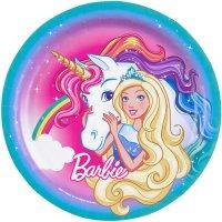 Contiene : 1 x 8 Piatti Barbie Unicorno