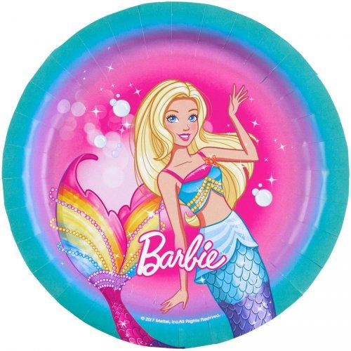 8 Piattini Barbie Unicorno