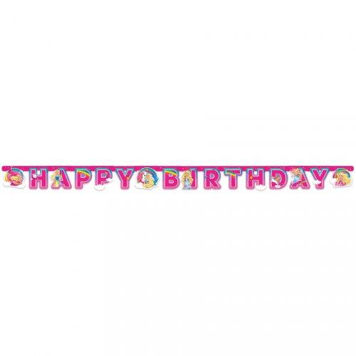 Ghirlanda Happy Birthday Barbie Unicorno (2 m)