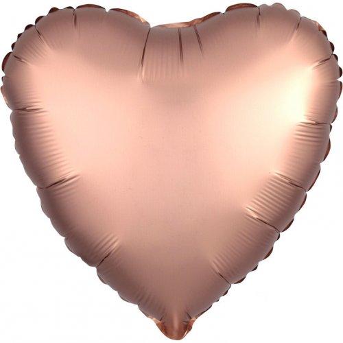 Palloncino Cuore Raso Rosa Gold (43 cm)