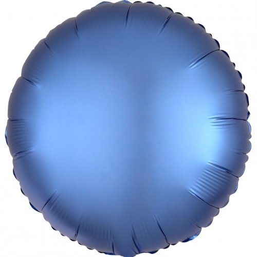 Palloncino Disco Raso Blu Azzurro (43 cm)