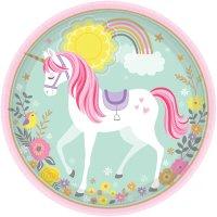 Contiene : 1 x 8 Piatti Unicorno Magico