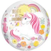 Palloncino Orbz piatto Unicorno Magico