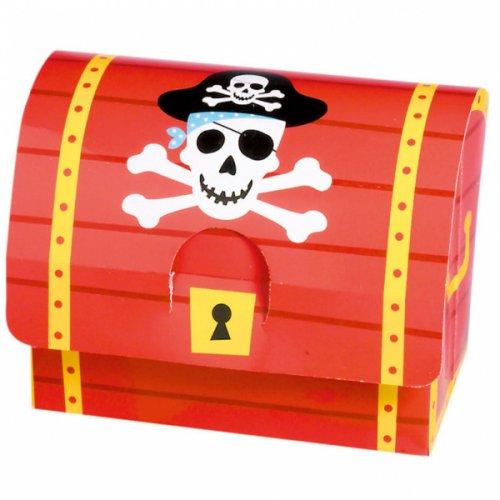 8 scatole regalo per i pirati (10 cm)