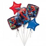 Mazzo da 5 Palloncini Spiderman (43, 48 e 73 cm)