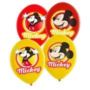 6 Palloncini Mickey Rosso/Giallo