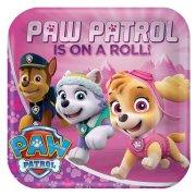 8 Piatti PAW Patrol Rosa
