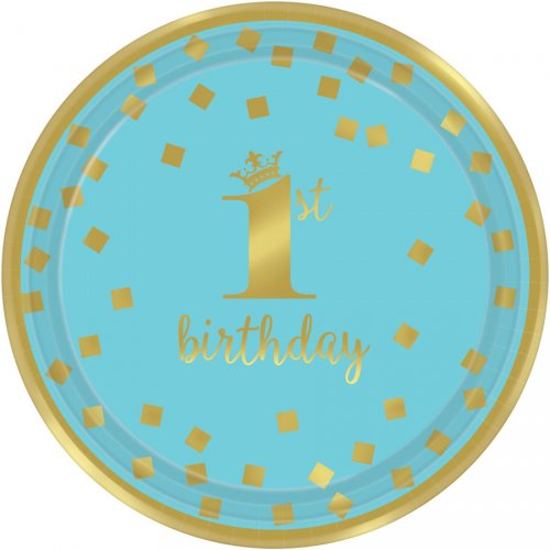 8 Piattini Royal Birthday 1 - Blu