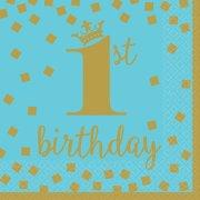 16 Tovaglioli Royal Birthday 1 - Blu