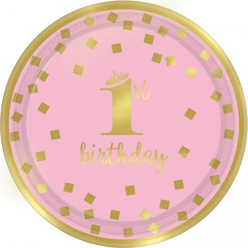 8 Piattini Royal Birthday 1 - Rosa