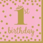16 Tovaglioli Royal Birthday 1 - Rosa