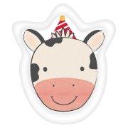 8 Piatti Mucca - Barnyard Il cortile