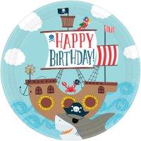 Contiene : 1 x 8 Piatti Pirata Birthday