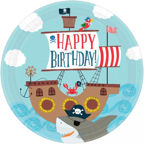 8 Piatti Pirata Birthday