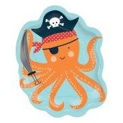 8 Piattini Piovra - Pirata Birthday