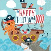 Contiene : 1 x 16 Tovaglioli Pirata Birthday