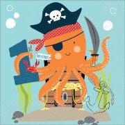 16 Tovaglioli Pirata Birthday - 1 Anno