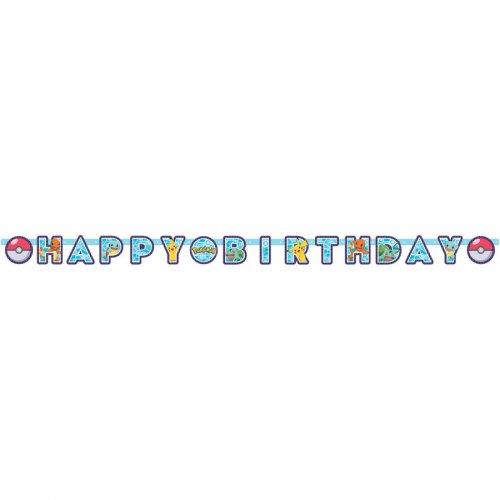 Ghirlanda Happy Birthday Pokémon Friends (2,18 m)