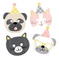 Contiene : 1 x 8 Maschere Hello Pets