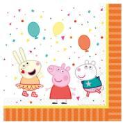 20 Tovaglioli - Peppa Pig Party