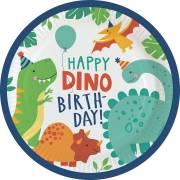 8 Piatti - Happy Dino Party