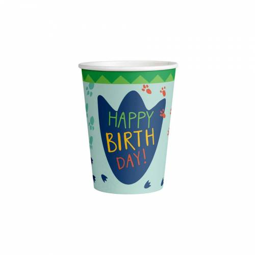 8 Bicchieri - Happy Dino Party