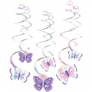 6 festoni a spirale farfalla vintage