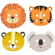 8 Maschere animali della giungla
