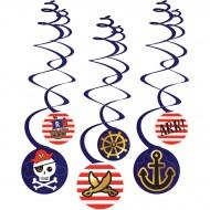 6 festoni a spirale pirata