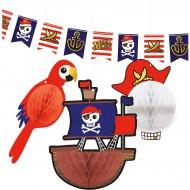 Kit decorazioni da appendere pirata