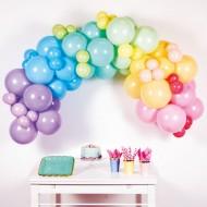 Kit Arco di 78 Palloncini Rainbow Pastello